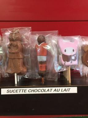 Sucettes au chocolat lait St Nicolas