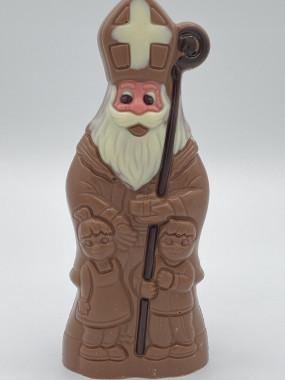 St Nicolas avec enfants chocolat lait